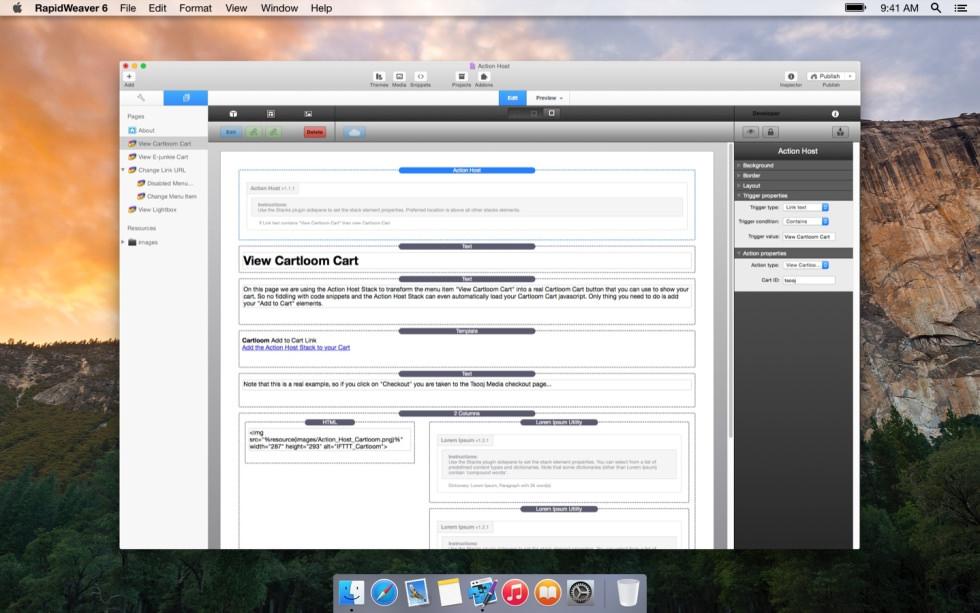 Action Host screenshot