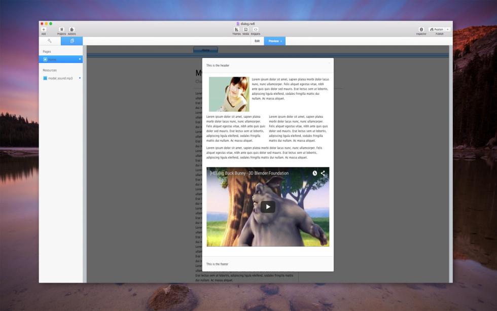 Modal Dialog Pro screenshot