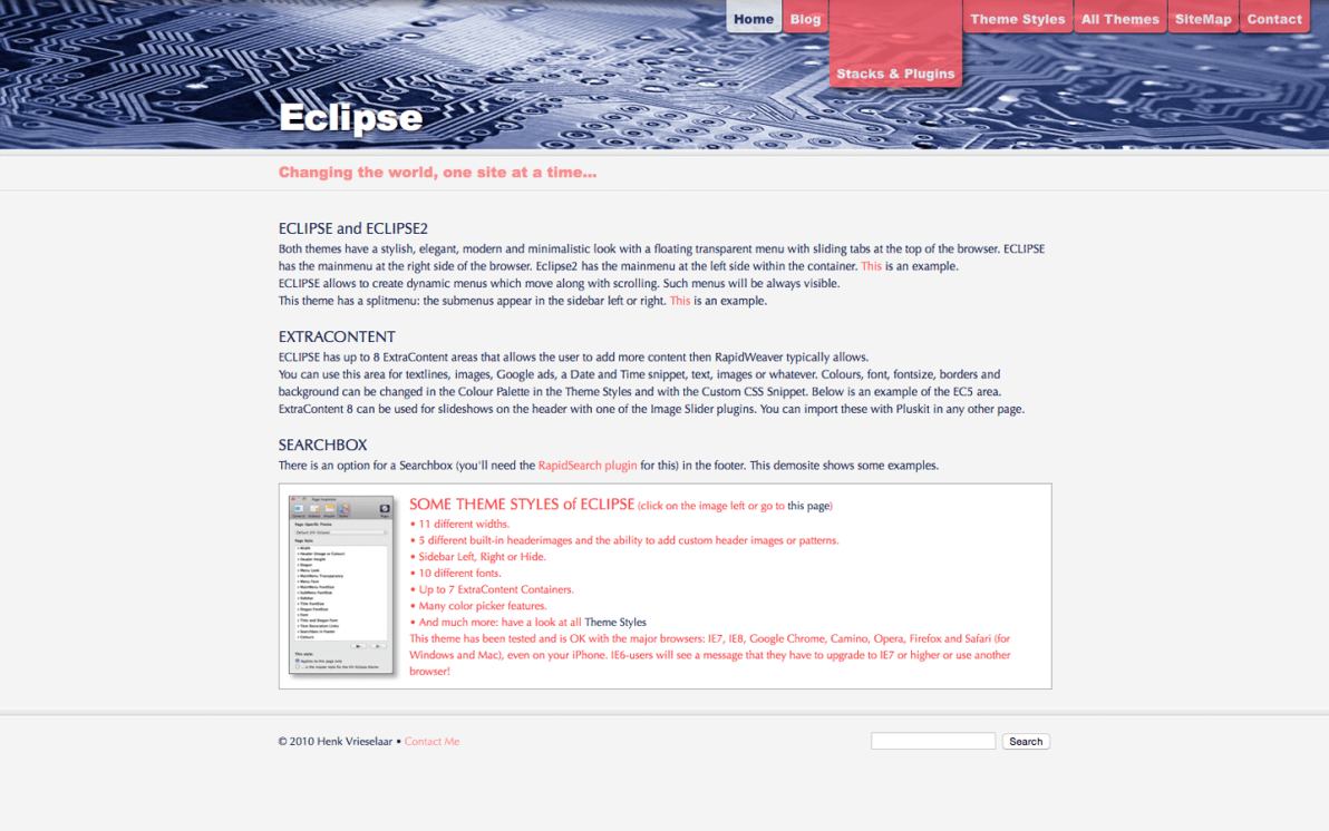 Eclipse screenshot