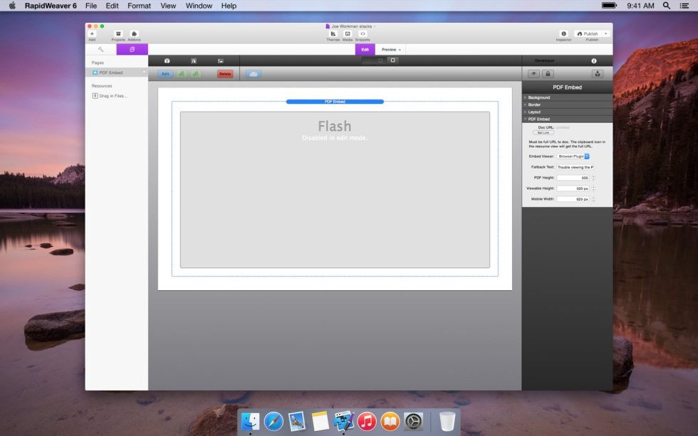 PDF Embed screenshot