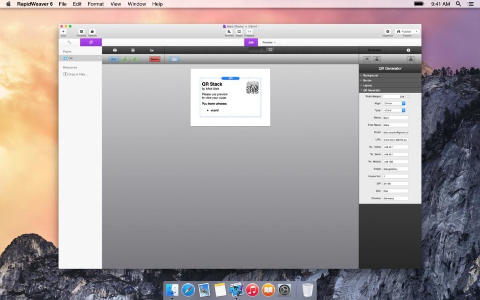 QR Code screenshot