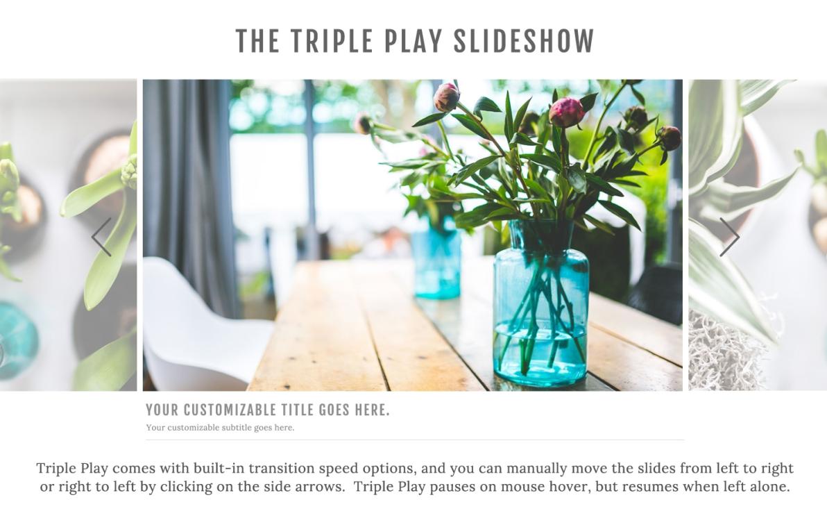 Triple Play Slideshow screenshot