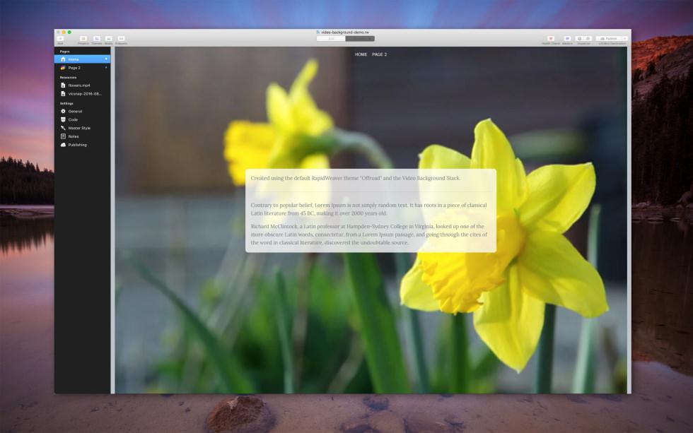 Video Background screenshot