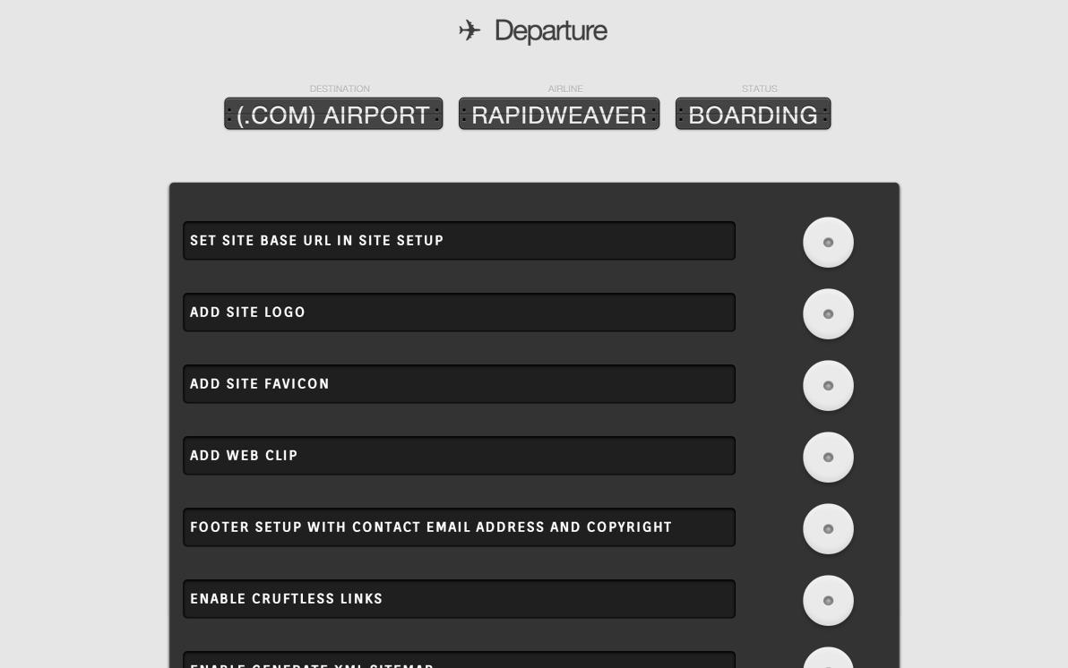 Departure screenshot