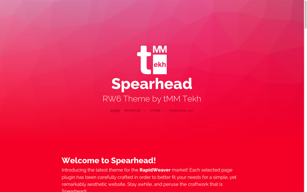 Spearhead Theme screenshot