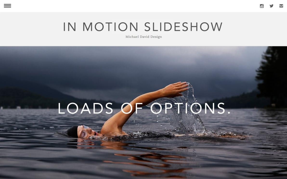 In Motion Slideshow screenshot