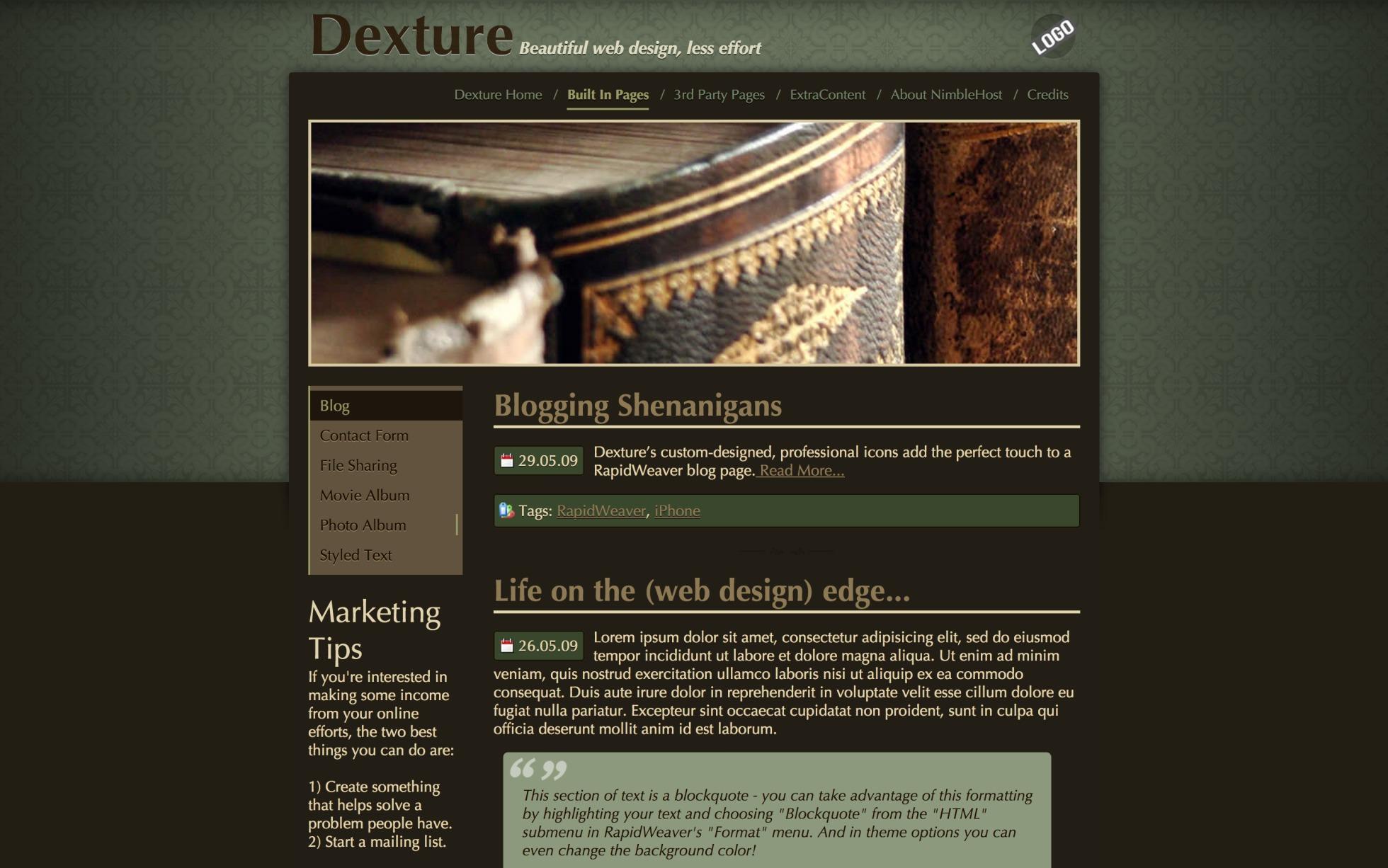 Dexture screenshot