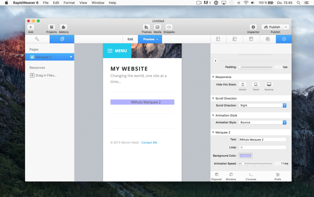 Marquee 2 screenshot