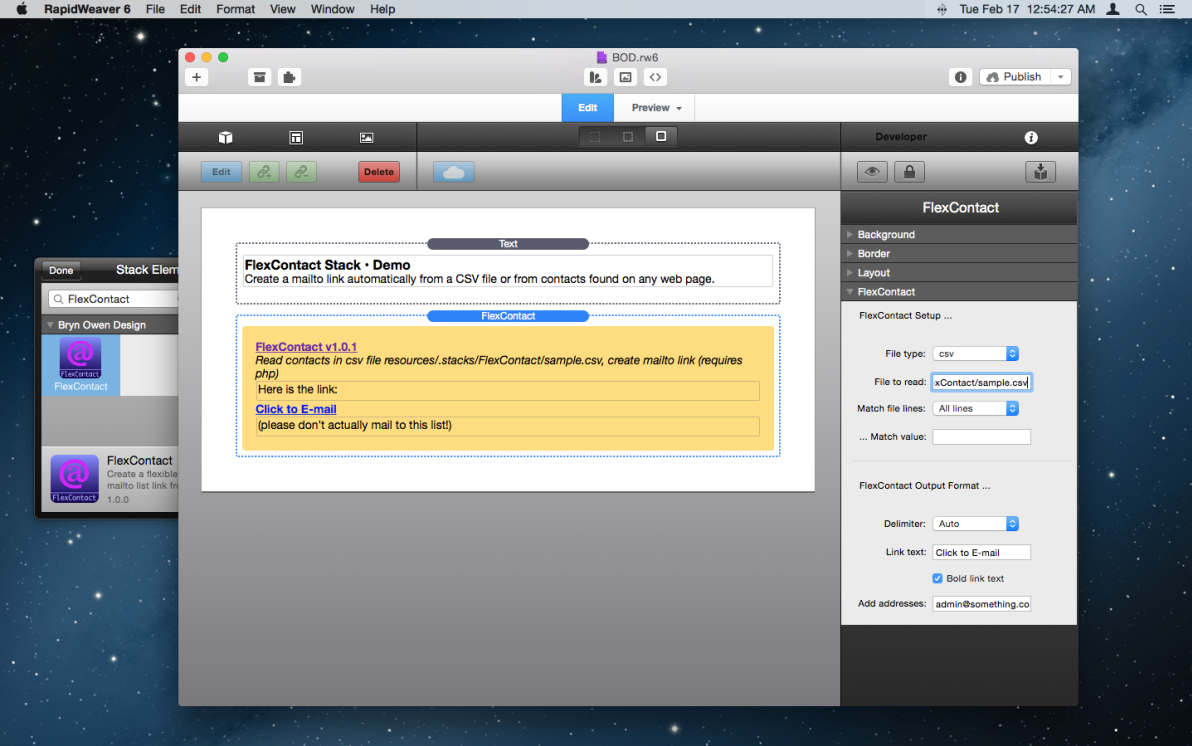 FlexContact Stack screenshot