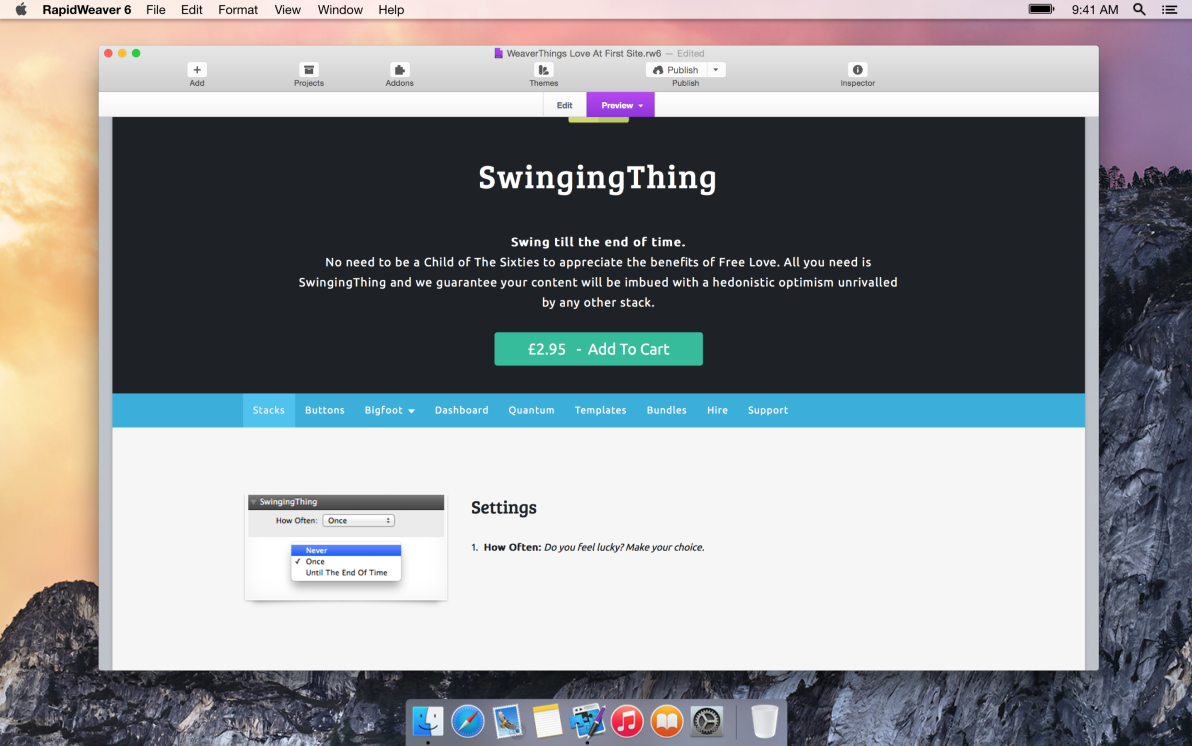 SwingingThing screenshot