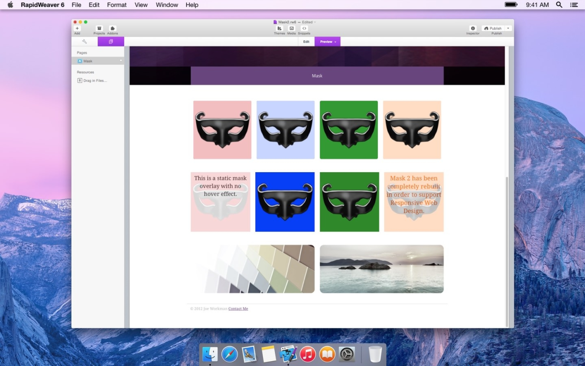Mask screenshot
