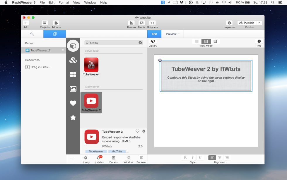 TubeWeaver 2 screenshot