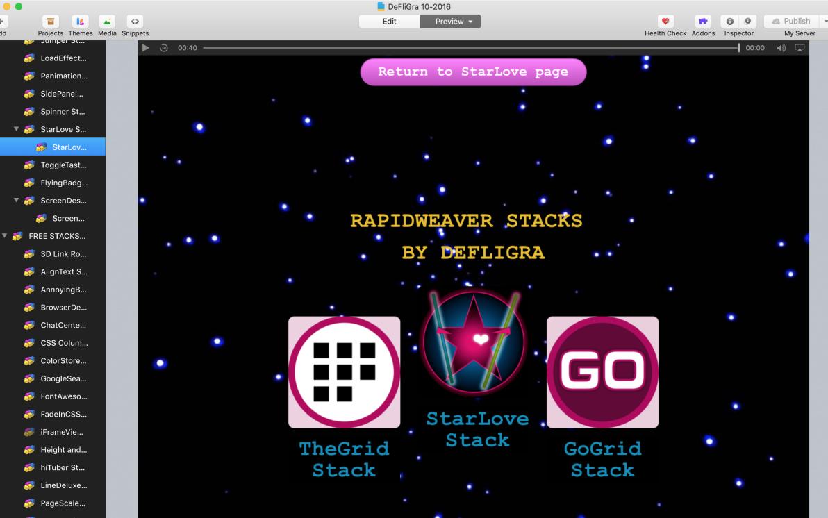 StarLove Stack screenshot
