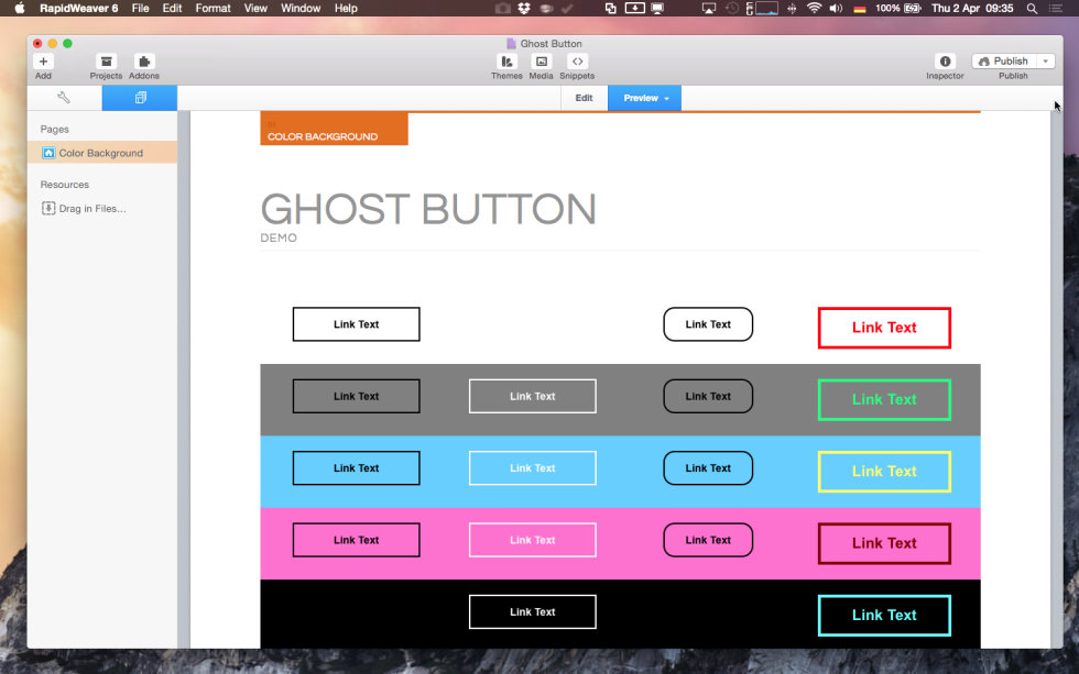 Ghost Button Stack screenshot