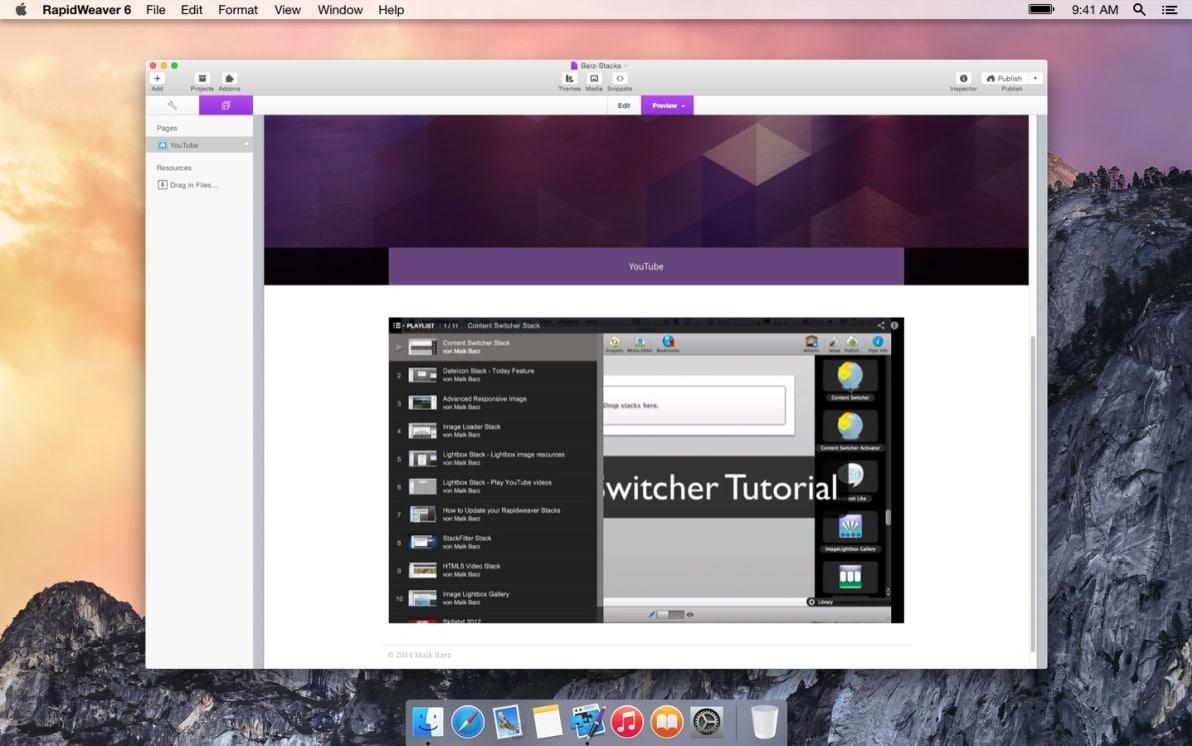 YouTube Stack screenshot