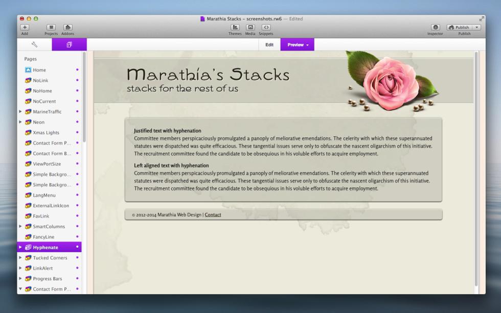 Hyphenate Stack screenshot