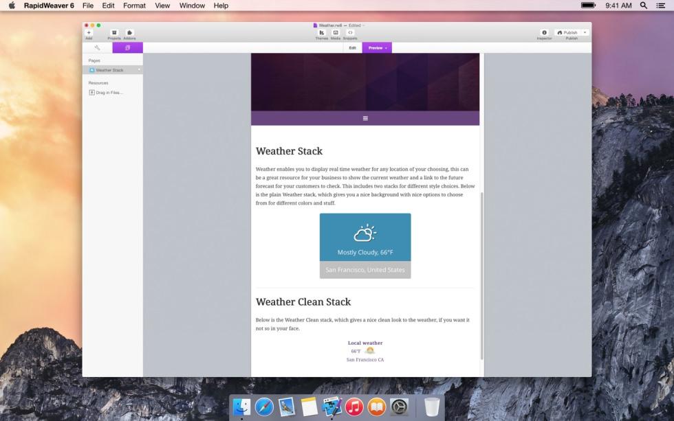 Weather screenshot