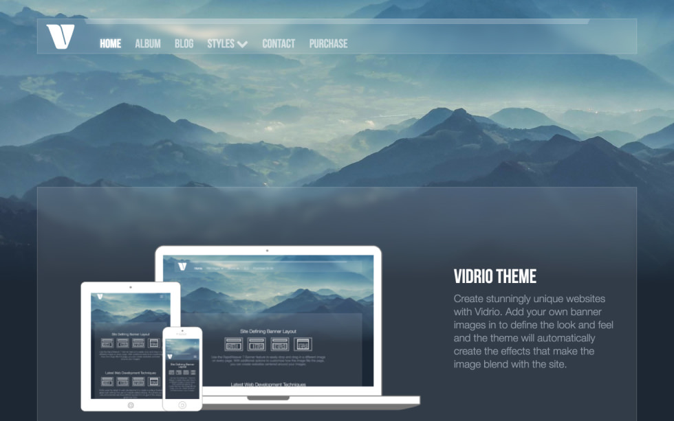 Vidrio Theme screenshot