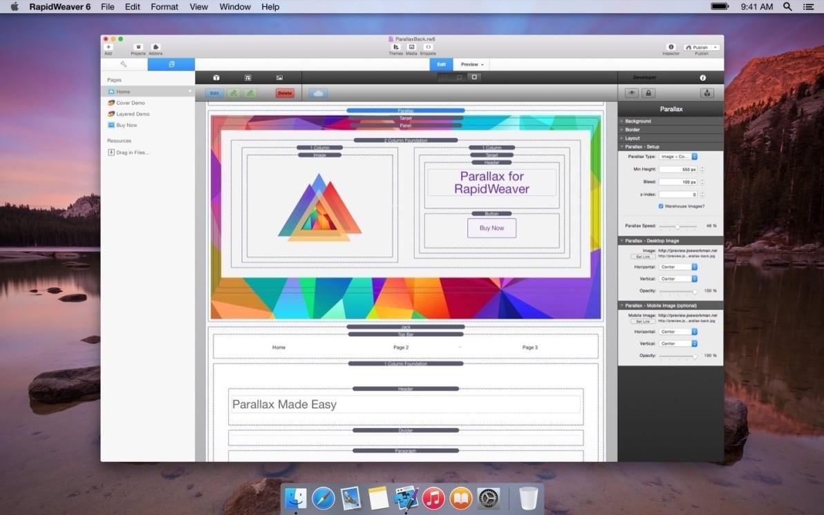 Parallax Background screenshot