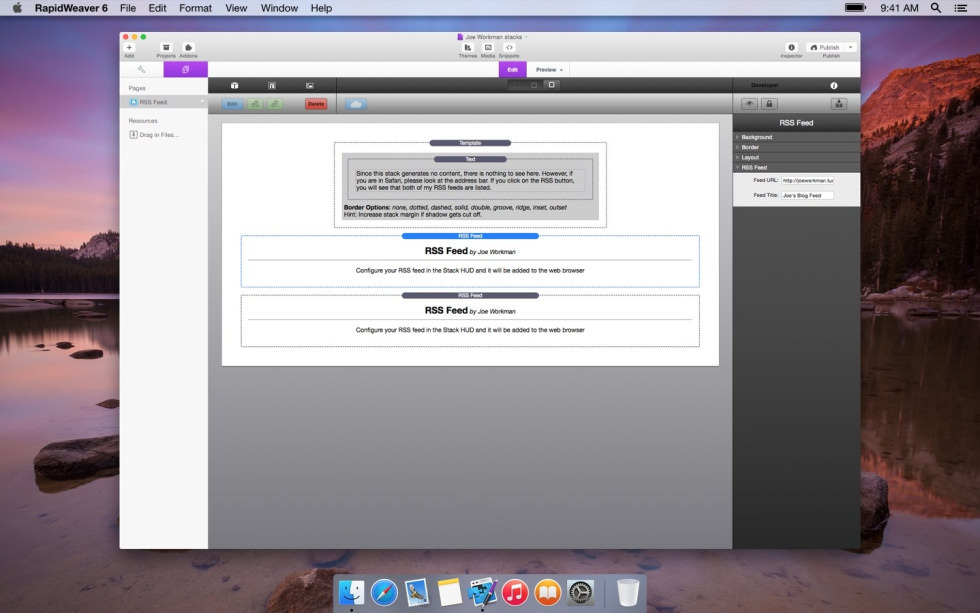 RSS Feed screenshot