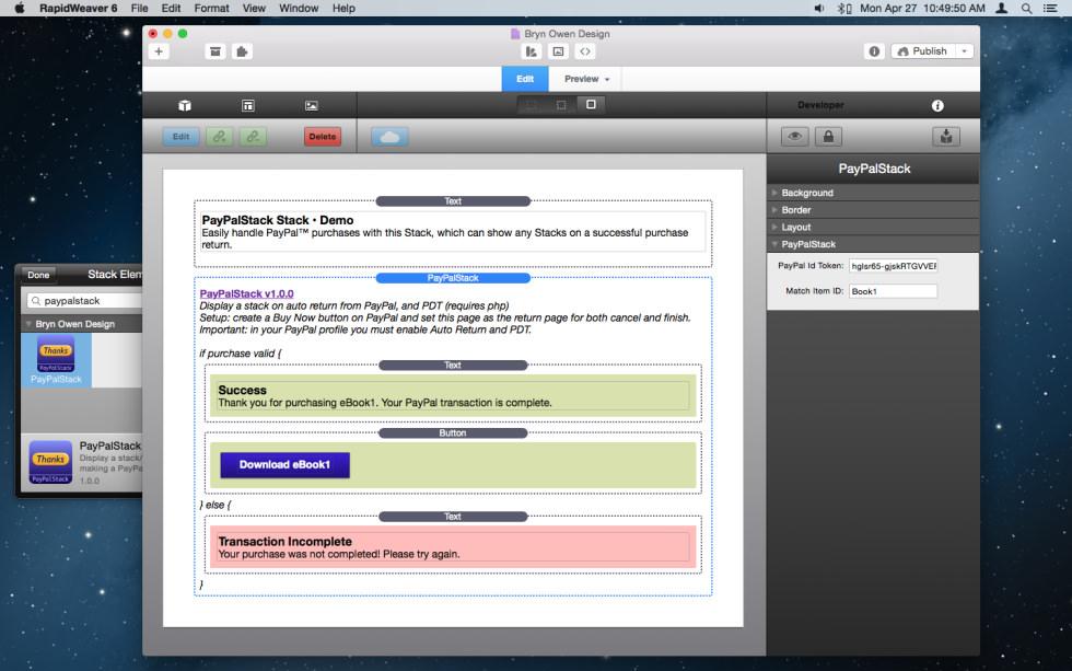 PayPalStack screenshot
