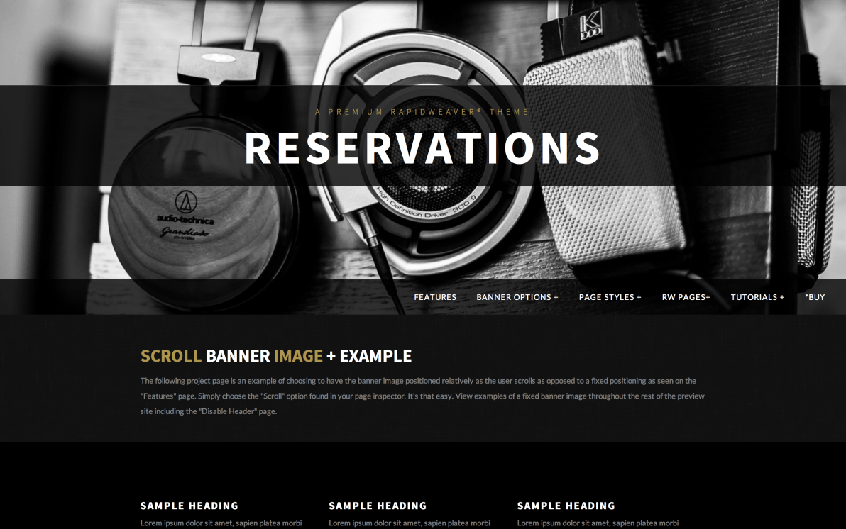 Reservations screenshot