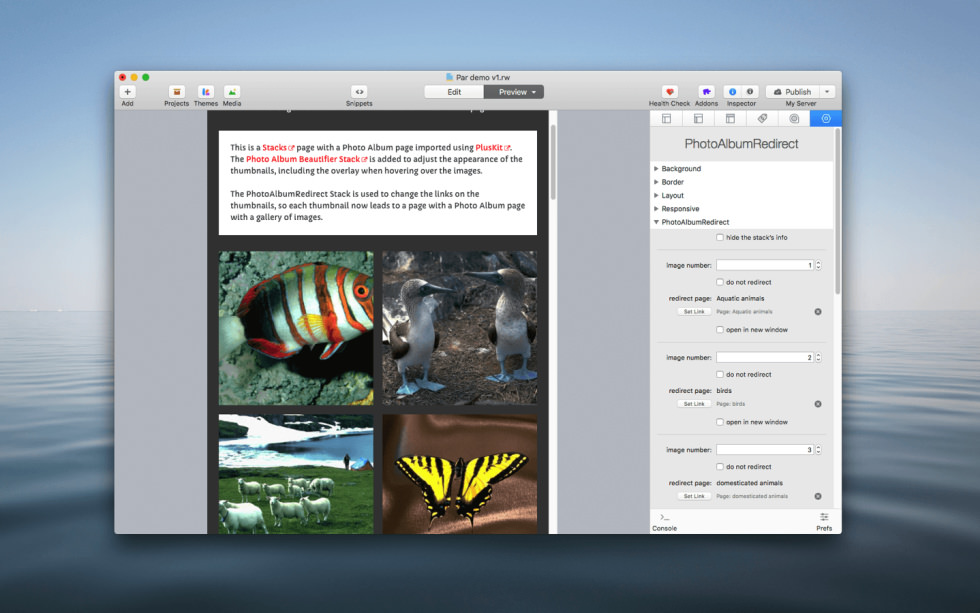 PhotoAlbumRedirect Stack screenshot