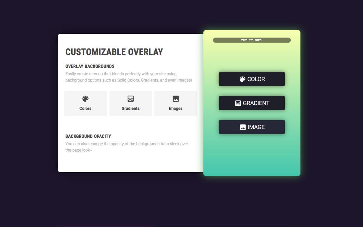 Overlay Menu screenshot