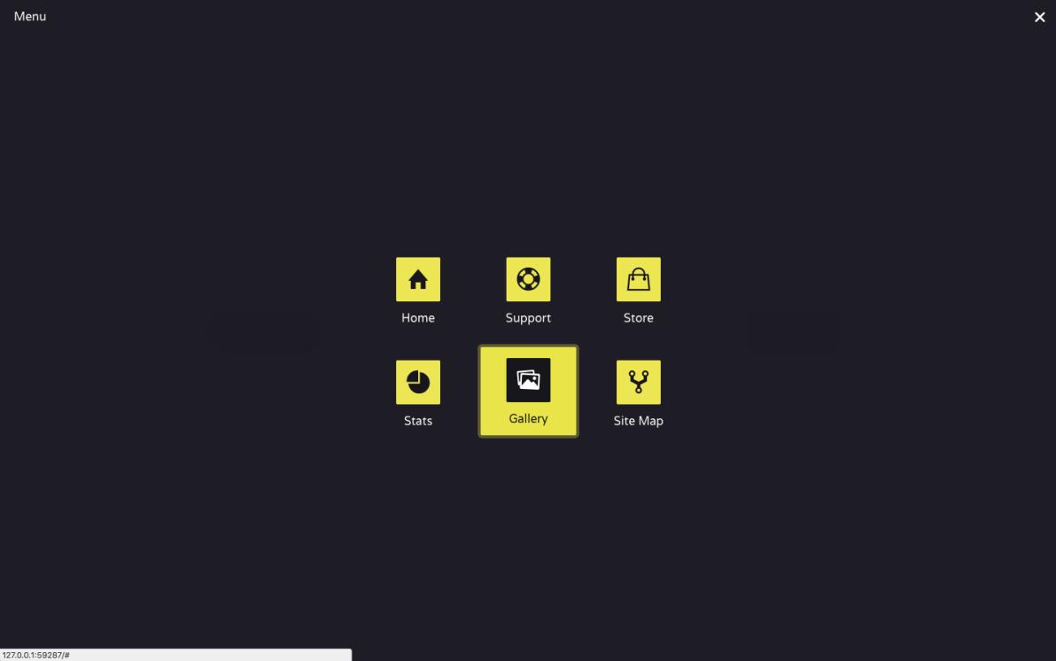 Icon Menu screenshot