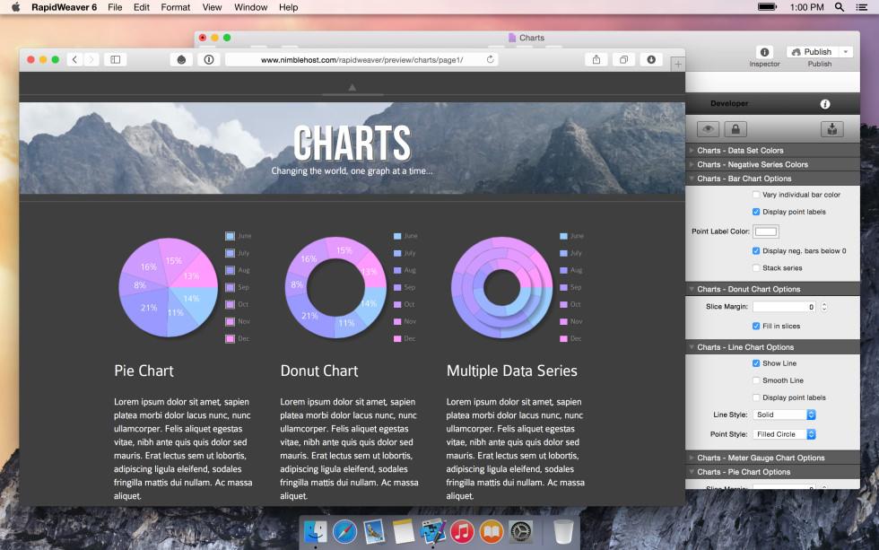 Charts screenshot