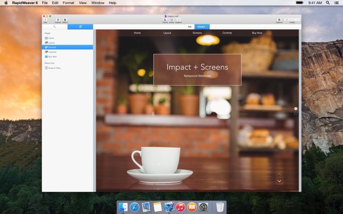 Impact screenshot
