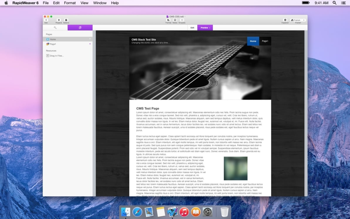 CMS & CSS screenshot