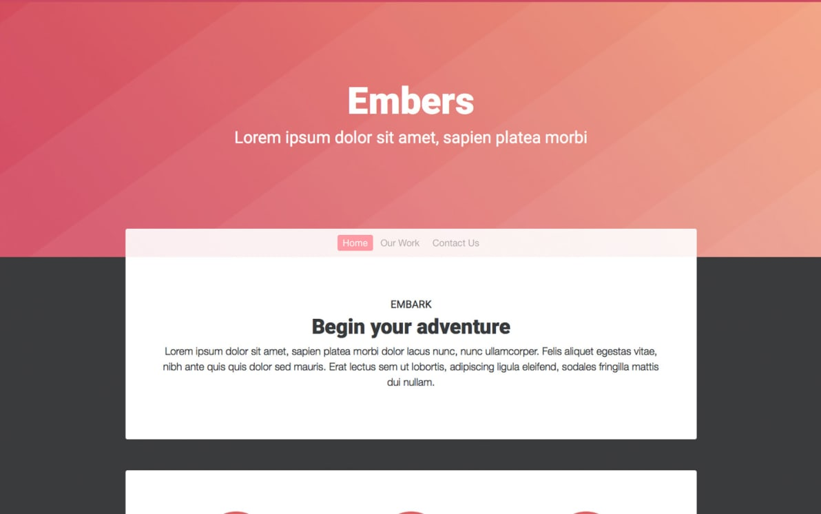 Embers screenshot