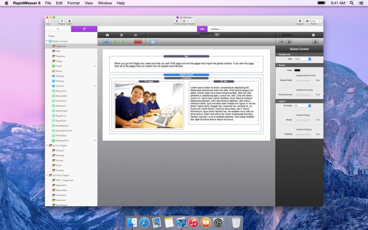 Global Content screenshot