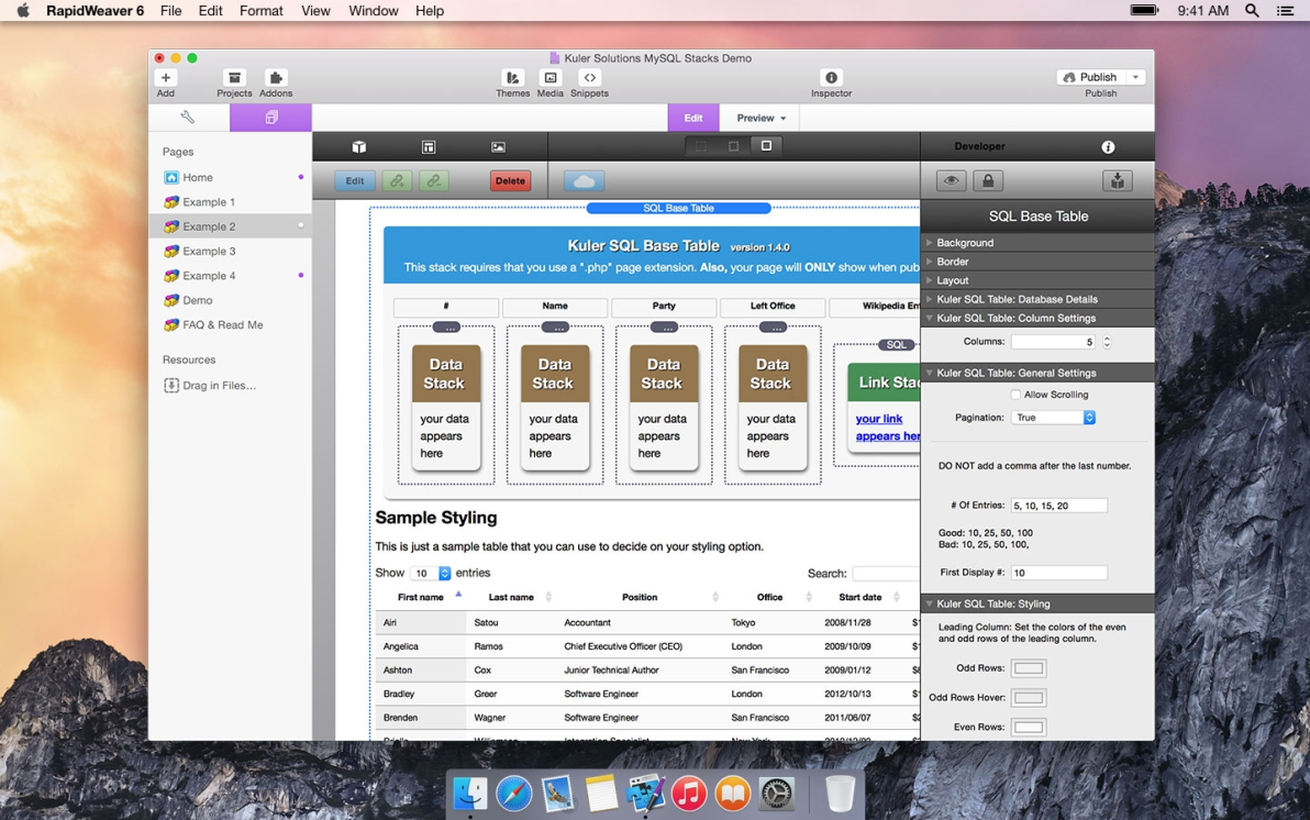 Kuler SQL screenshot