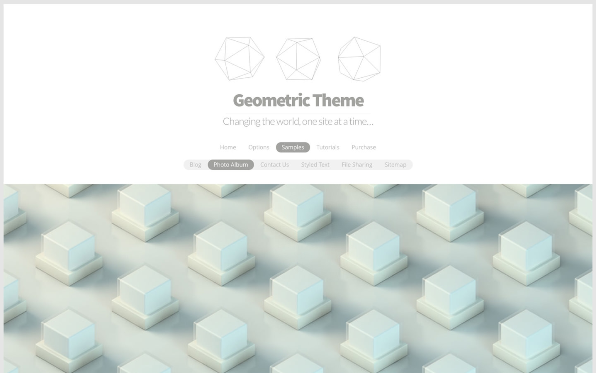 Geometric screenshot