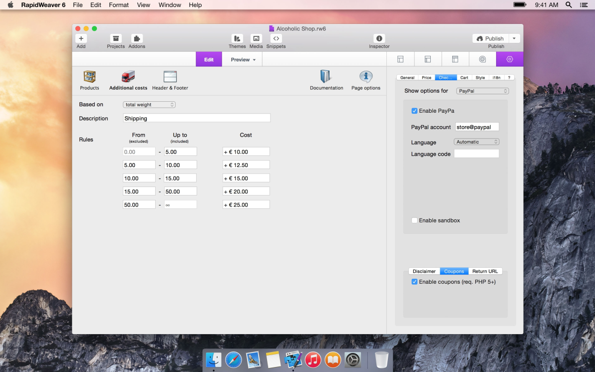 RapidCart 3 screenshot