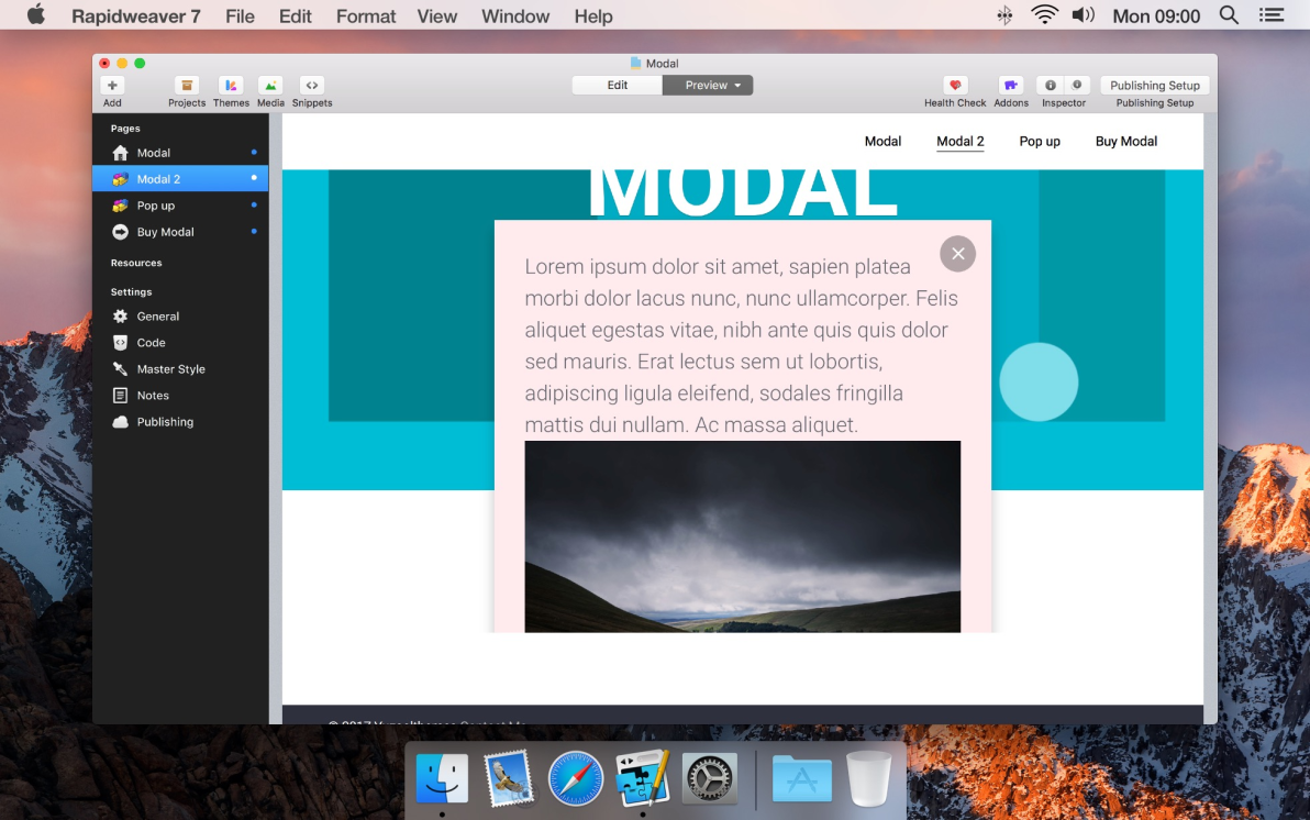 Modal screenshot