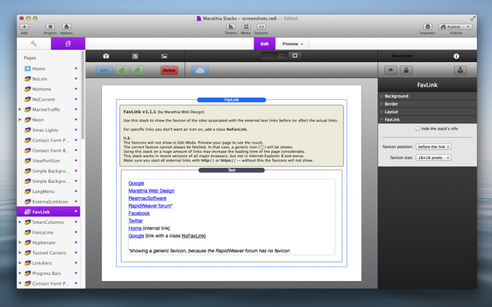 FavLink Stack screenshot