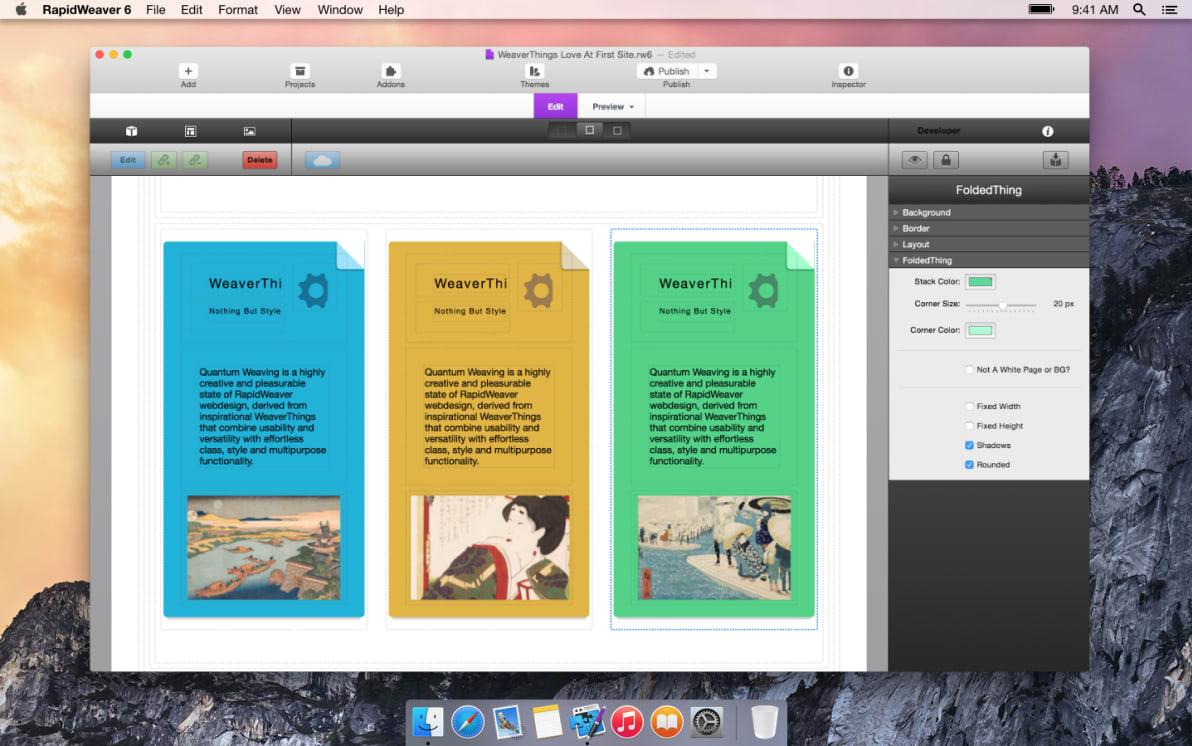 FoldedThing screenshot