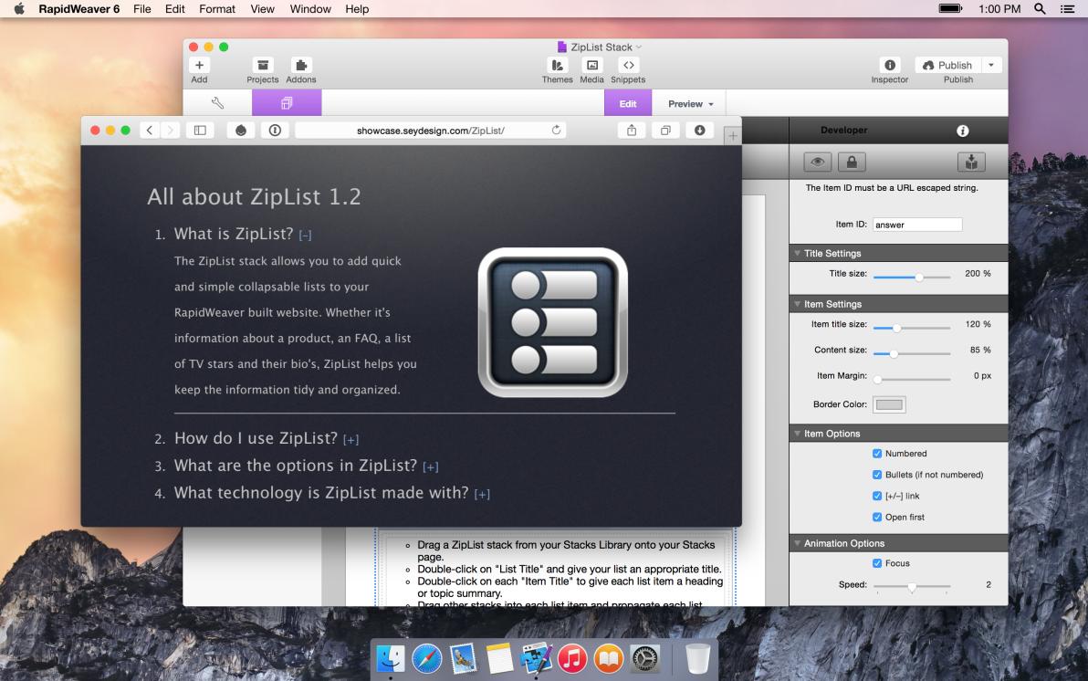 seyDesign ZipList screenshot