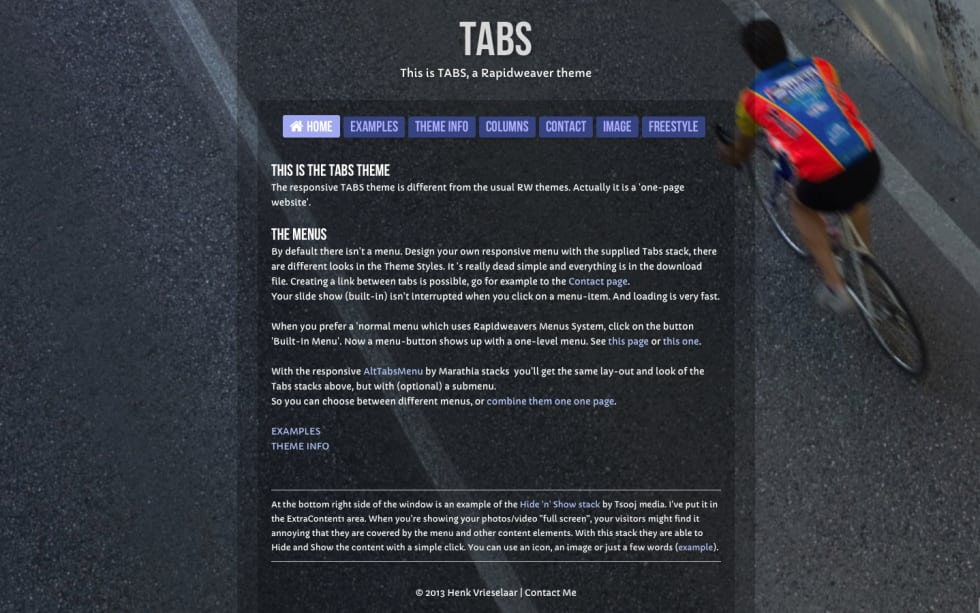 Tabs RapidWeaver Theme by Will Woodgate — RapidWeaver Community