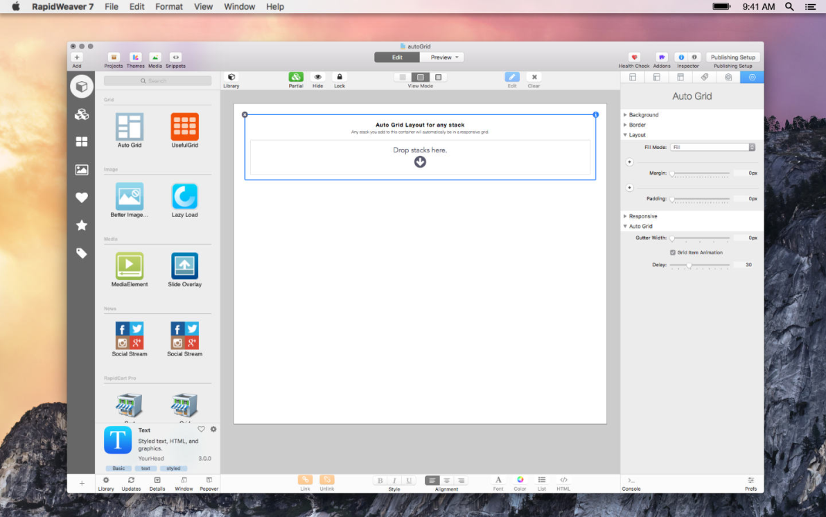 Auto Grid screenshot