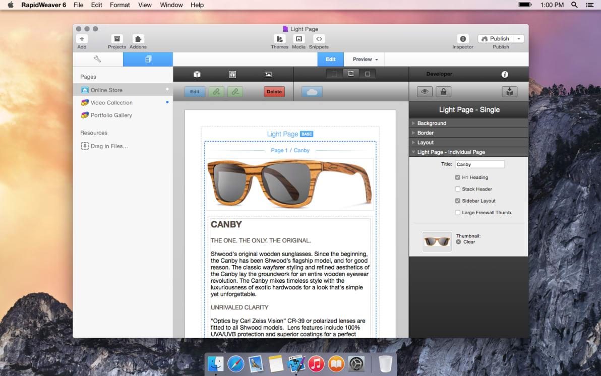 Light Page screenshot
