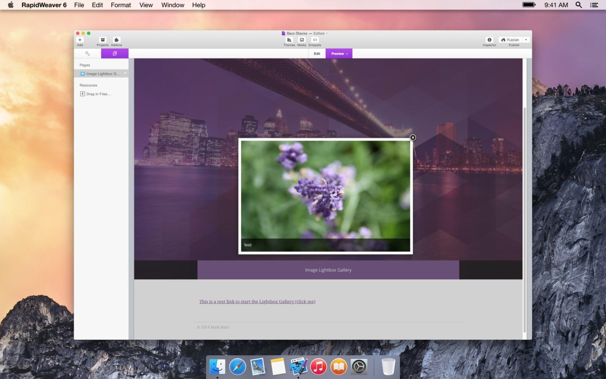Image LightBox Gallery screenshot