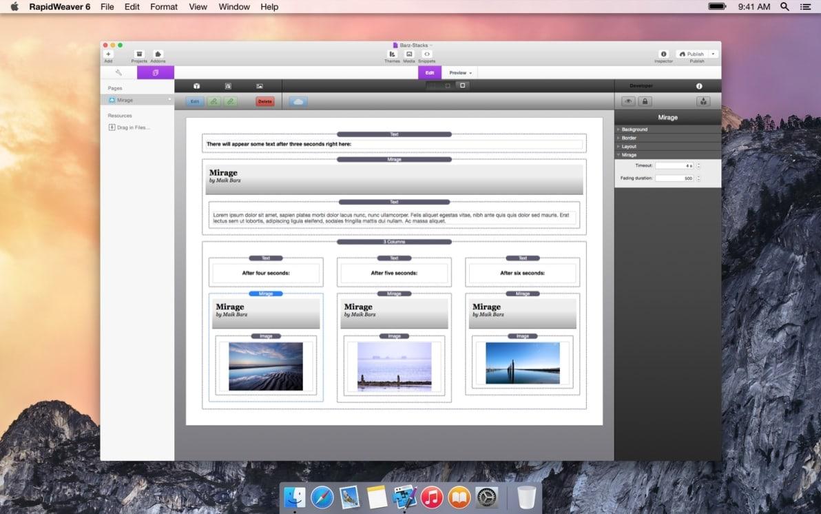 Mirage Stack screenshot