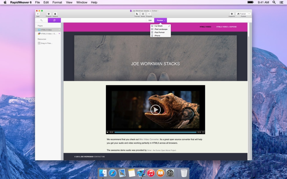 HTML5 Video screenshot
