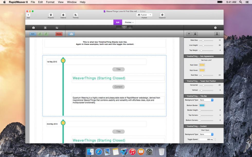 TimelineThing screenshot