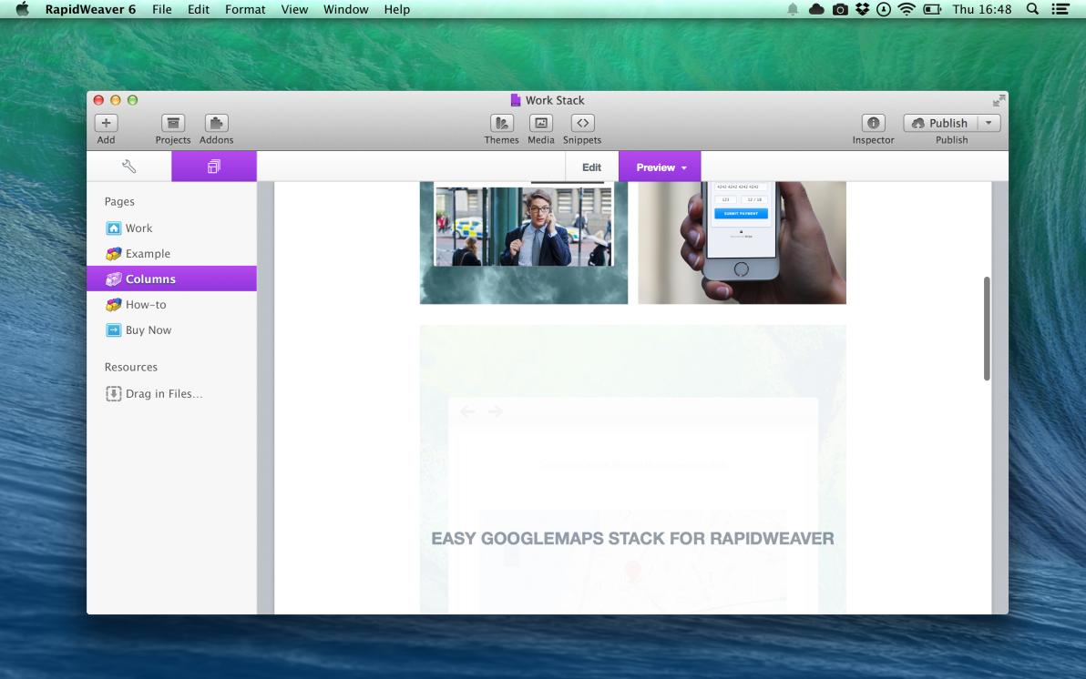 Work screenshot