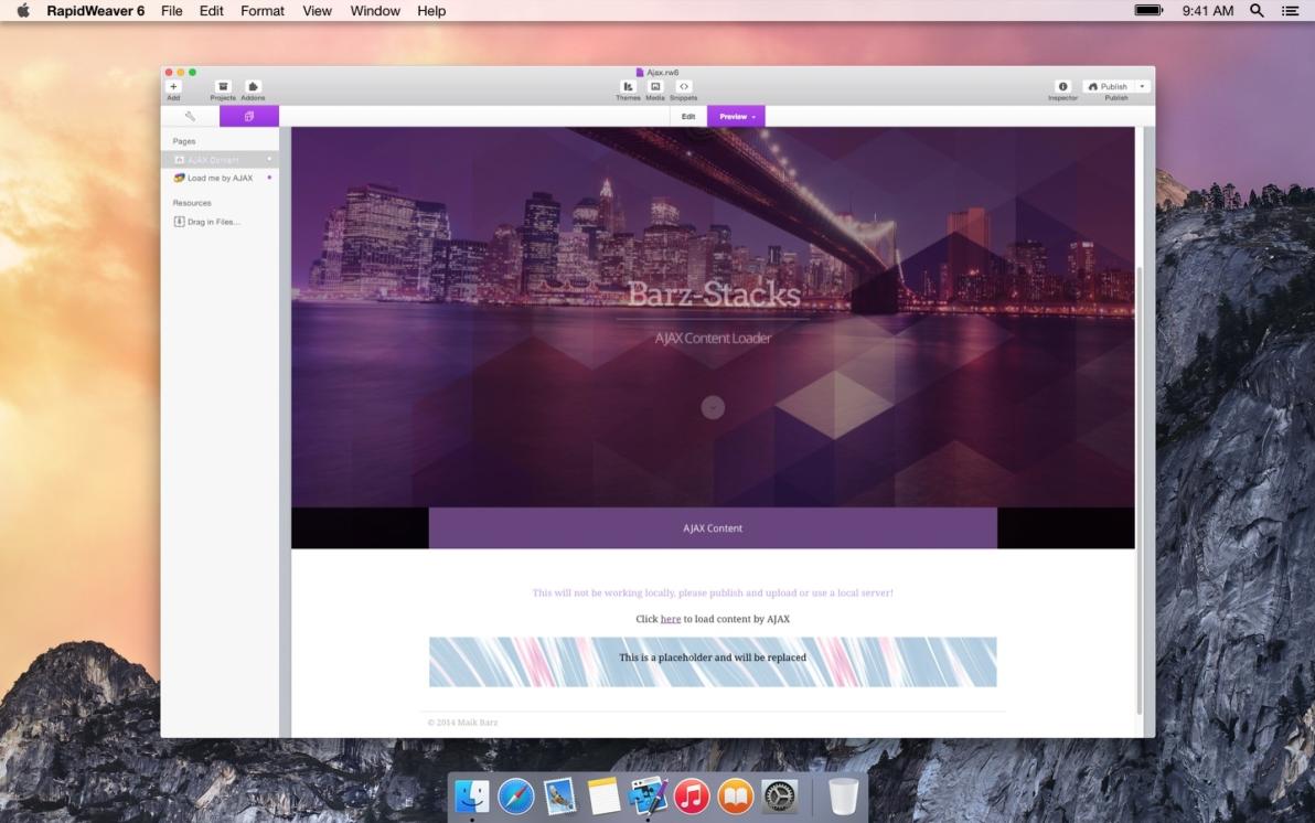 Ajax Content Loader screenshot